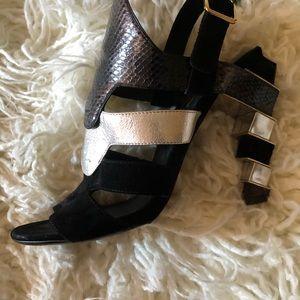Vintage Python/Suede/Leather Ferragamo Sandals